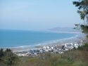 The view from Brynowen Holiday Park and across Cardigan Bay